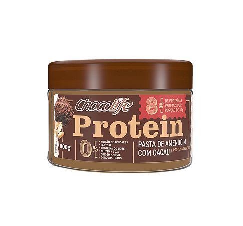 Pasta De Amendoim Com Cacau Protein Chocolife 300g