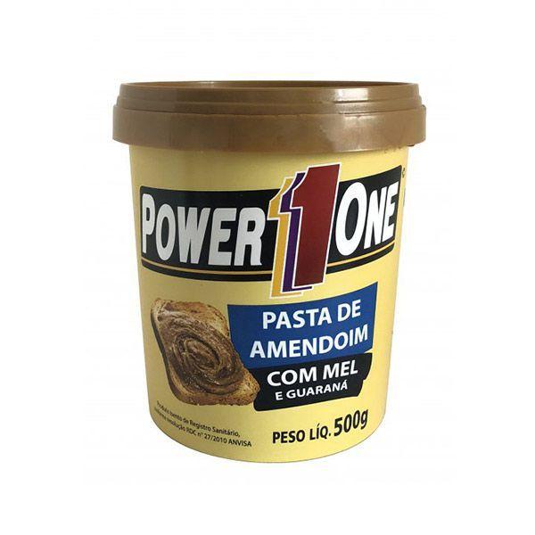 Pasta de Amendoim com Mel e Guaraná Power1One 500g