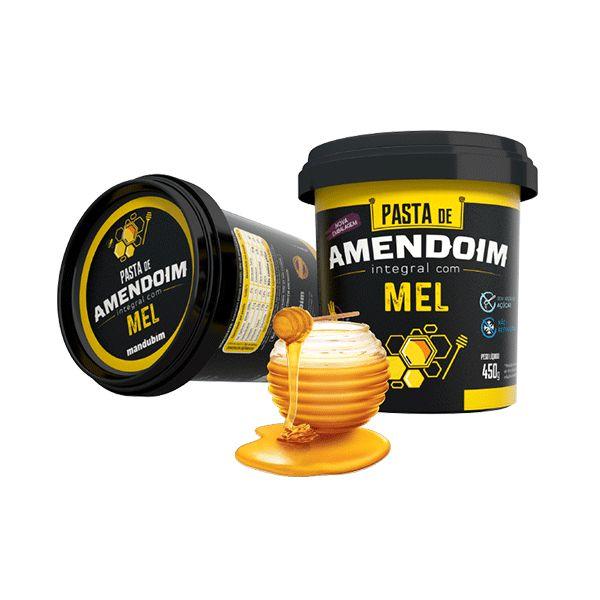 Pasta De Amendoim Integral Com Mel Mandubim 450g