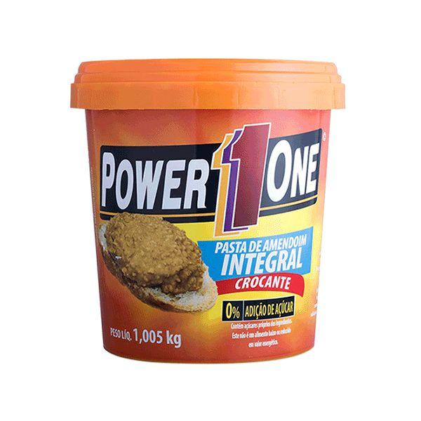 Pasta De Amendoim Integral Crocante Power One 1,005kg