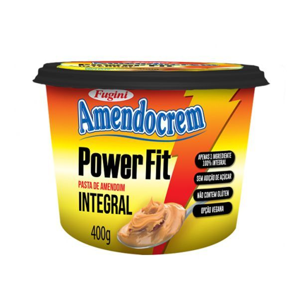 Pasta De Amendoim Integral Power Fit Amendocrem Fugini 400g