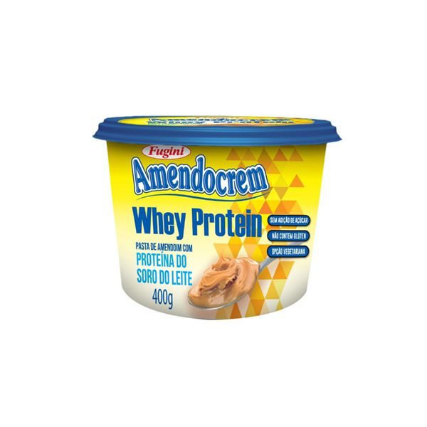 Pasta De Amendoim Whey Protein Amendocrem Fugini 400g