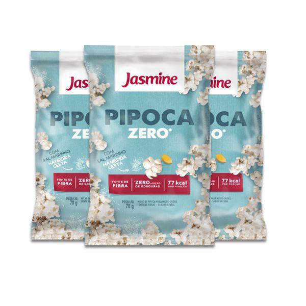 Pipoca Natural Jasmine 70g Contendo 3 Unidades