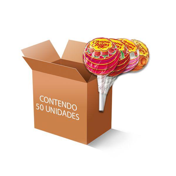 Pirulito Chupa Chups sem Glúten contendo 50 unidades