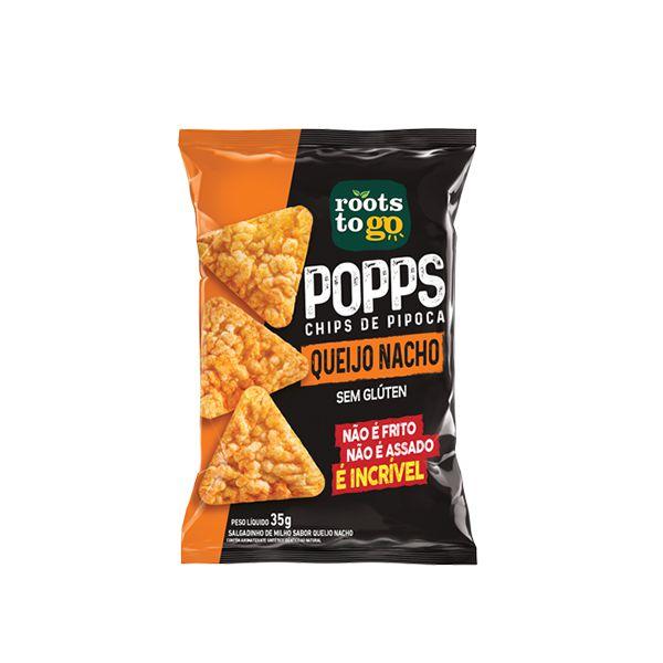 Popps Chips De Pipoca Queijo Nacho Sem Glúten Roots To Go 35g