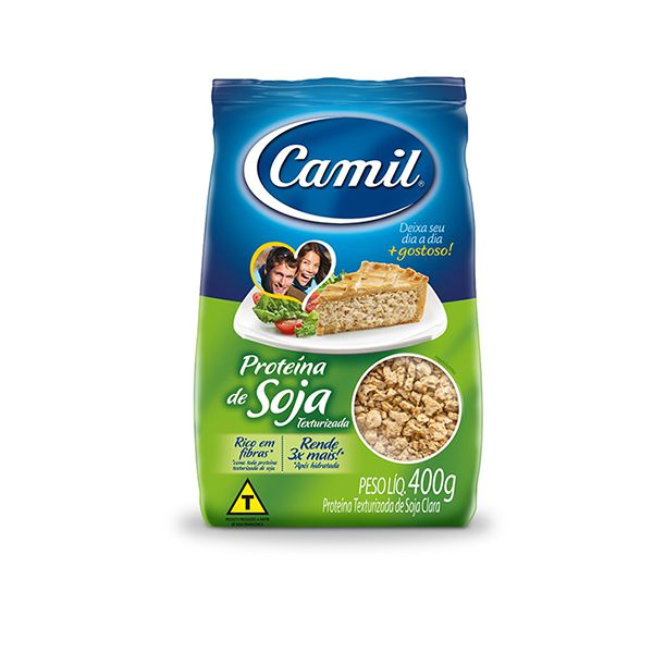 Proteína De Soja Texturizada Clara Camil 400g