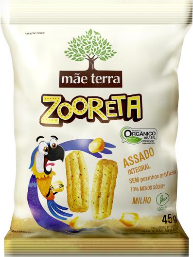 Salgadinho Zooreta Mãe Terra Natural 45g