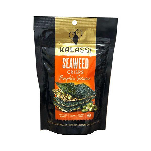 Seaweed Crisps Kalassi Pumpkin Sesame - Snack Algas Marinhas Com Semente De Abóbora 25g