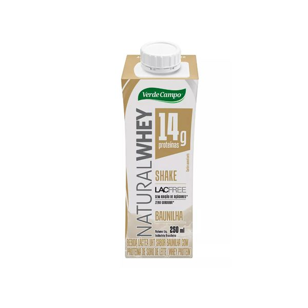 Shake Natural Whey Verde Campo Baunilha 250ml