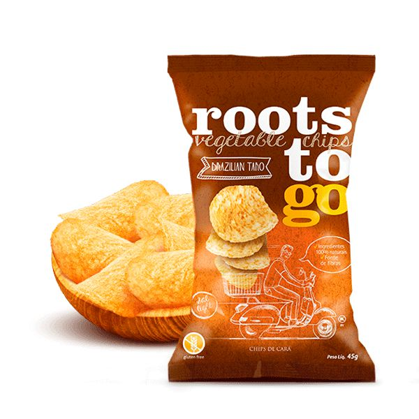 Snack Brazilian Taro - Chips De Cará Roots To Go 45g
