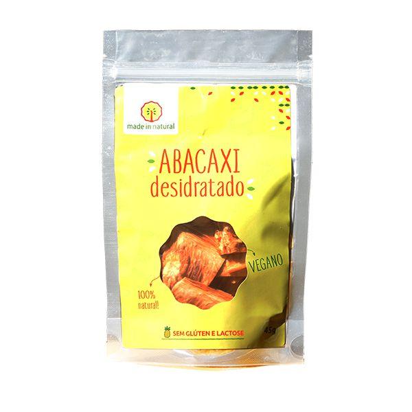 SNACK NATURAL DE ABACAXI DESIDRATADO MADE IN NATURAL IMPERIAL 45g