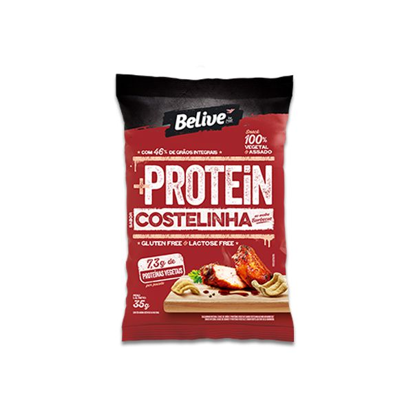 Snack +Protein Costelinha ao Barbecue Belive 35g