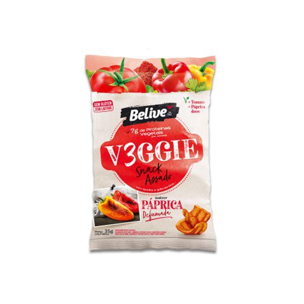 Snack V3ggie Páprica Defumada Zero Glúten, Zero Lactose Veggie Belive 35g