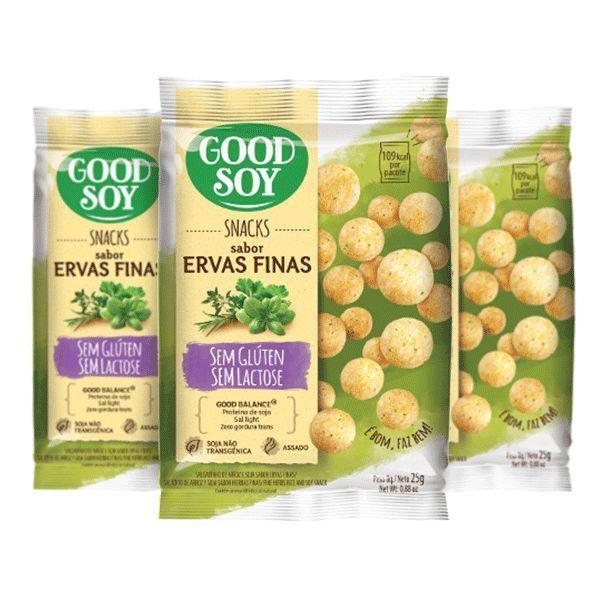 Snacks De Soja Good Soy Sabor Ervas Finas Contendo 3 Pacotes De 25g Cada