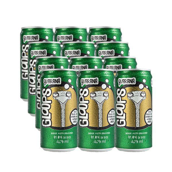 Suco Natural Gloops Guaraná Contendo 12 latas de 269ml cada
