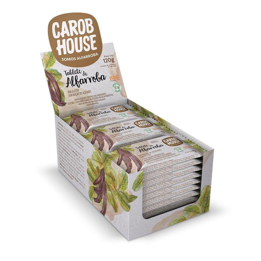 Tablete De Alfarroba Pura Carob House Contendo 30 Unidades