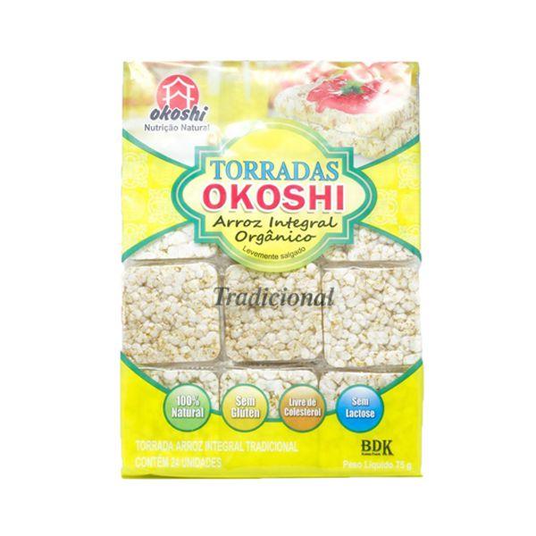 Torrada Orgânica Zero Glúten Okoshi Com 75g