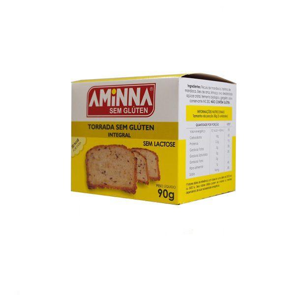 Torrada Salgada Integral Aminna 90g