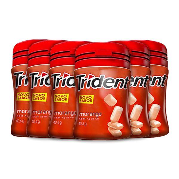 Trident Garrafa Morango Contendo 6 Frascos De 40,6g Cada