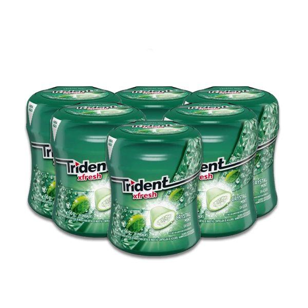 Trident Garrafa Xfresh contendo 6 garrafas de 56g cada