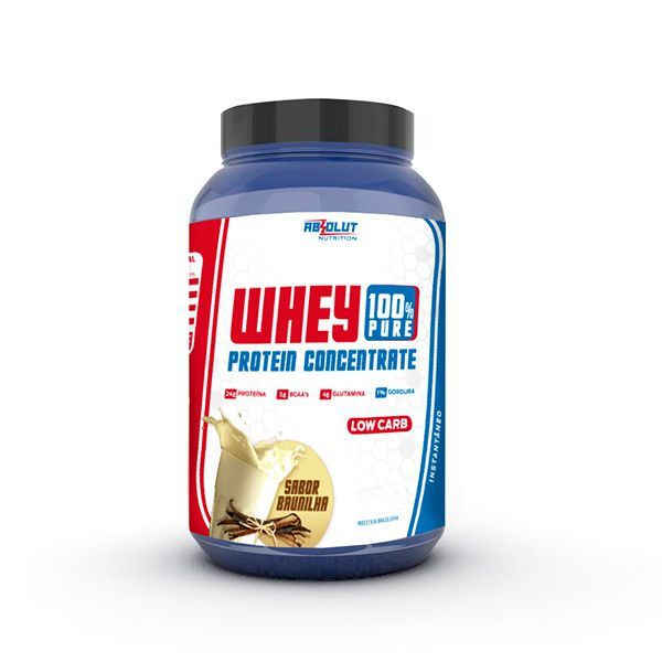 Whey Protein Concentrate 100% Pure Baunilha Absolut Nutrition 900g