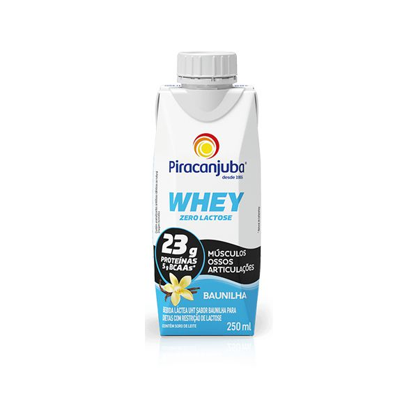 Whey de Baunilha Piracanjuba 250ml