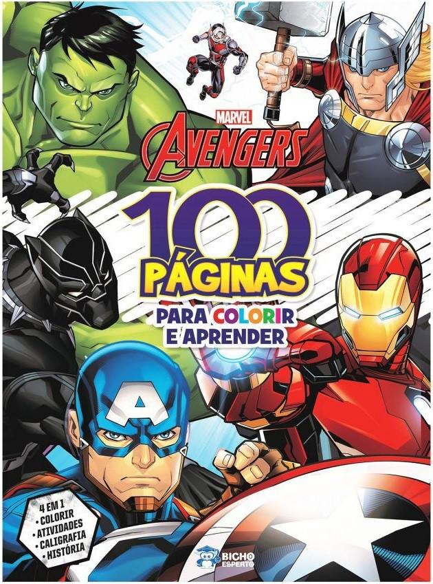 100 Páginas para Colorir - Avengers Marvel