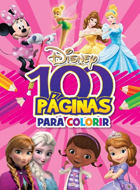 100 Páginas para Colorir - Meninas Disney