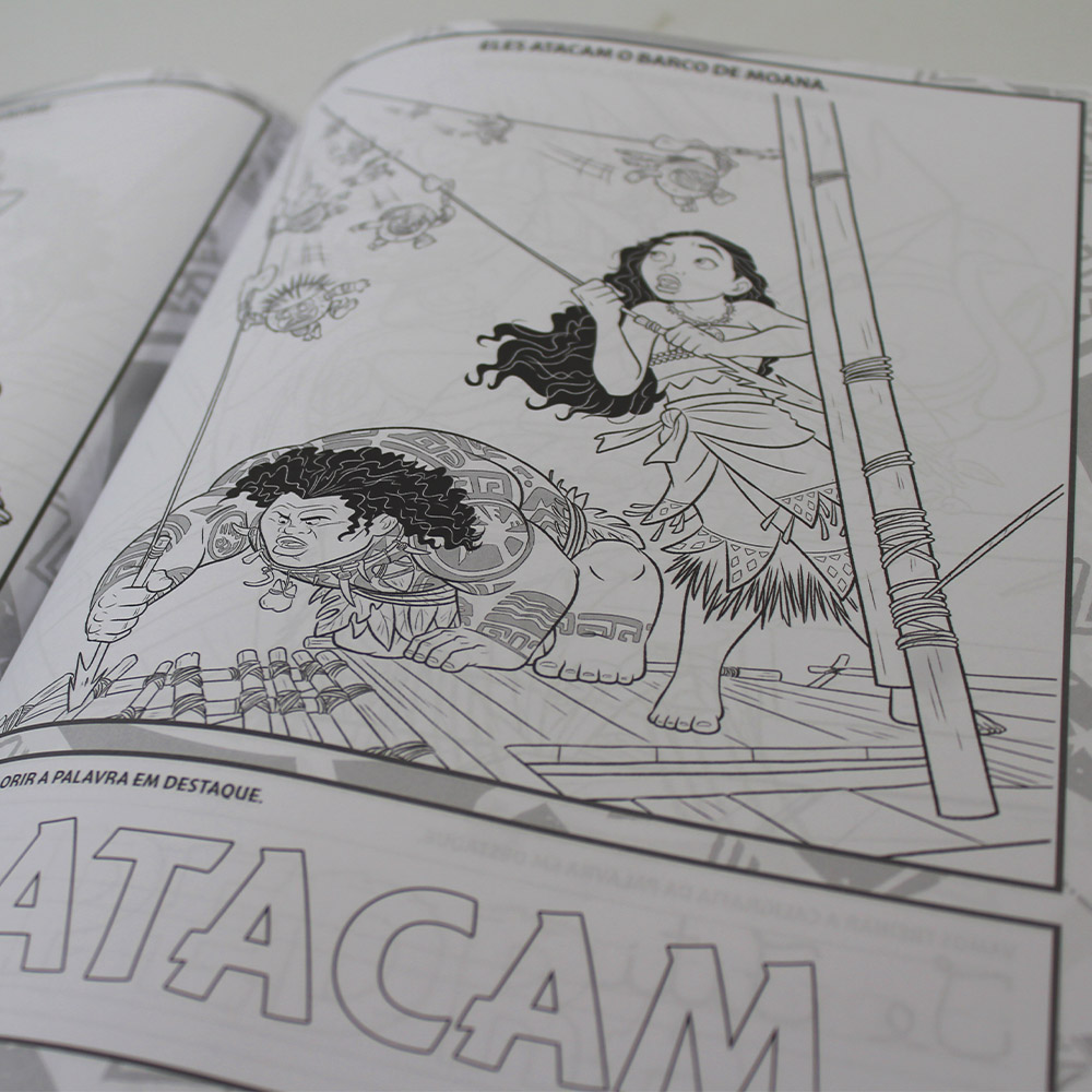 100 Páginas para Colorir - Moana Disney