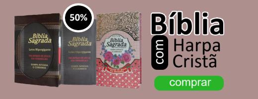 bíblia com harpa cristã letra gigante | livraria evangélica emmerick