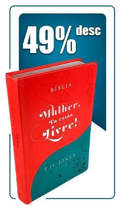 bíblia de estudo da mulher tu estás livre | livraria evangélica emmerick