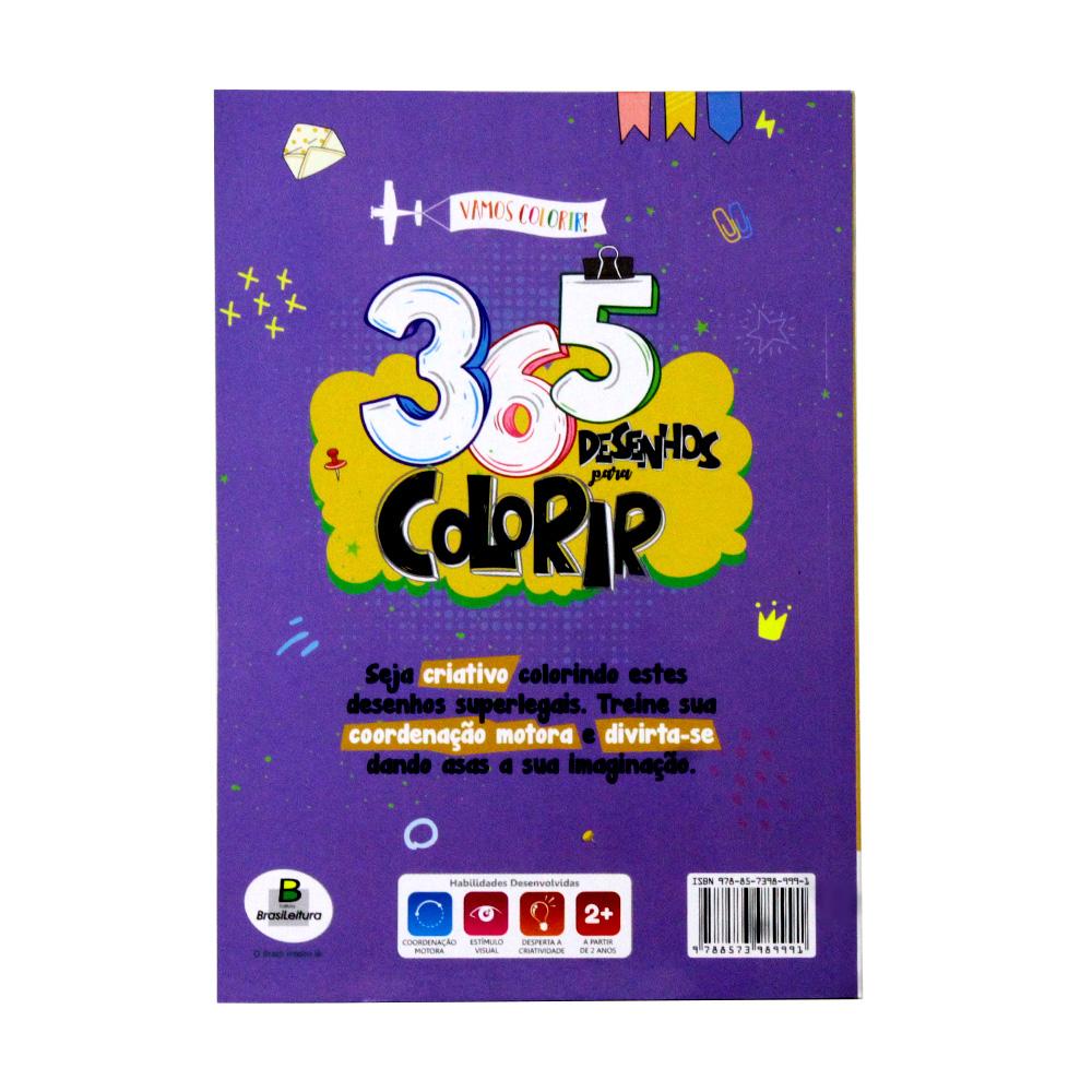 365 Desenhos Para Colorir   Roxo