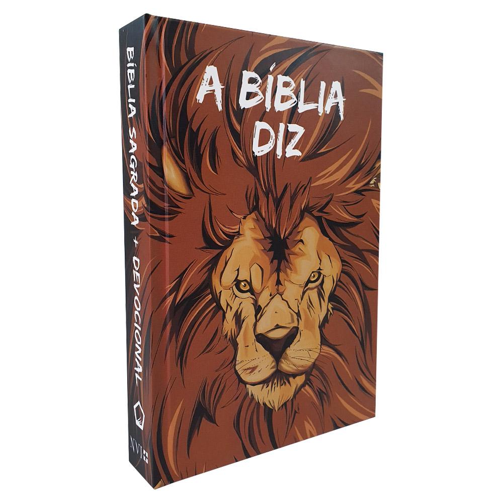 A Bíblia Diz com Devocional | NVI | Capa Leão HQ