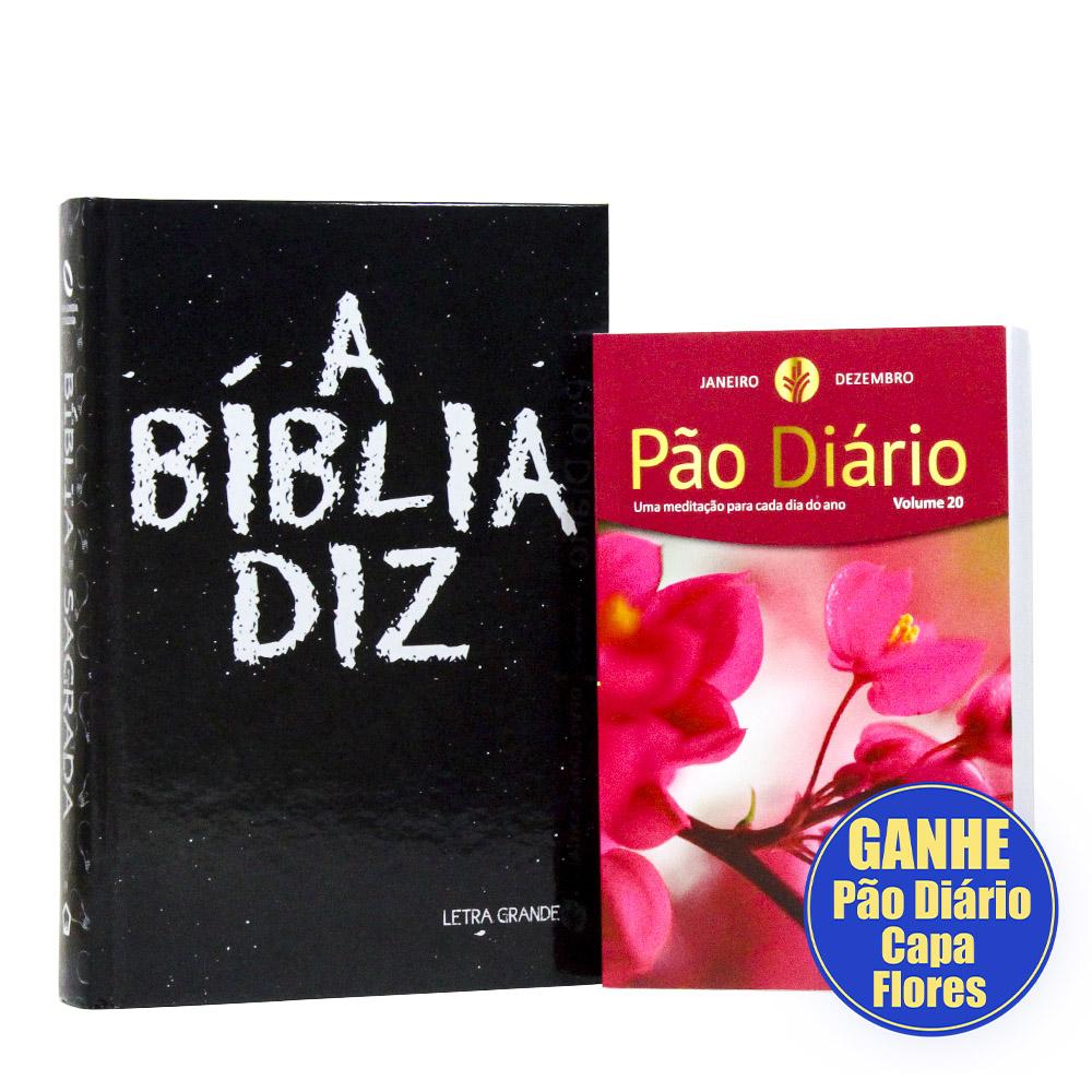 A Bíblia Diz | Letra Grande
