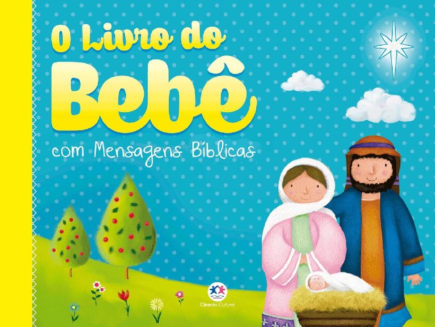 Álbum do bebê com mensagens bíblicas