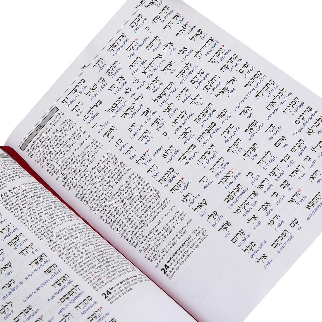 Antigo Testamento Interlinear Hebraico-Português Vol. 2 - Profetas Anteriores