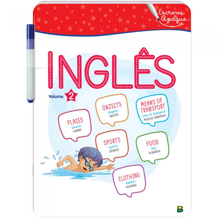 Aprenda Em Casa - Escreva e Apague: Inglês Vol. 2