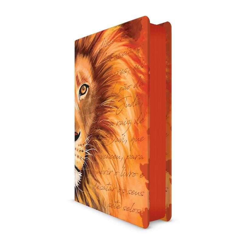Biblia ACF Leão Laranja - Letra Grande Soft Touch