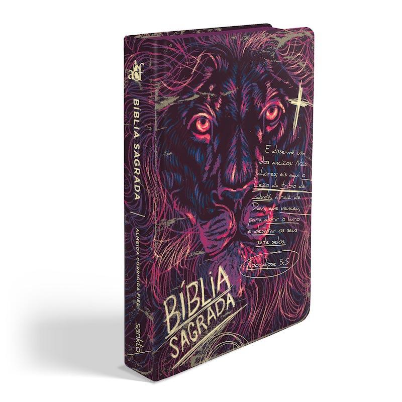 Biblia ACF Lion Chalk - Letra Grande Soft Touch