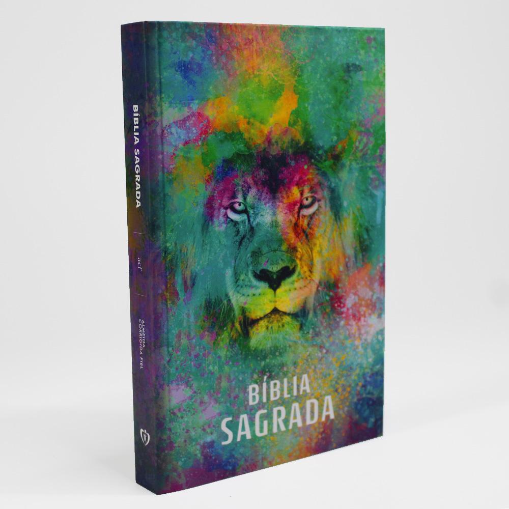 Bíblia Capa Dura   Leão Color   ACF