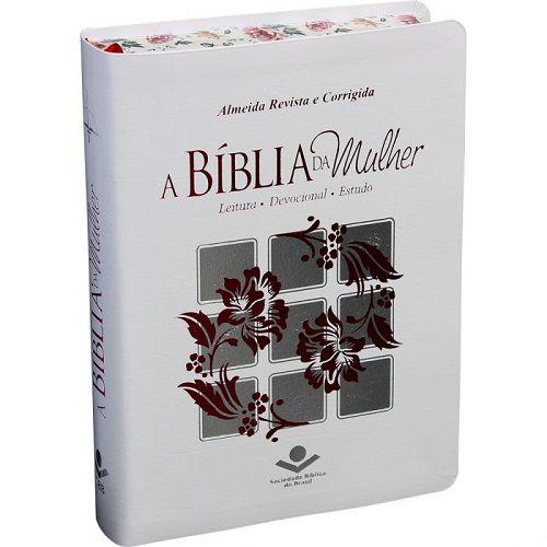 Bíblia da Mulher Bordas Floridas Média   ARC