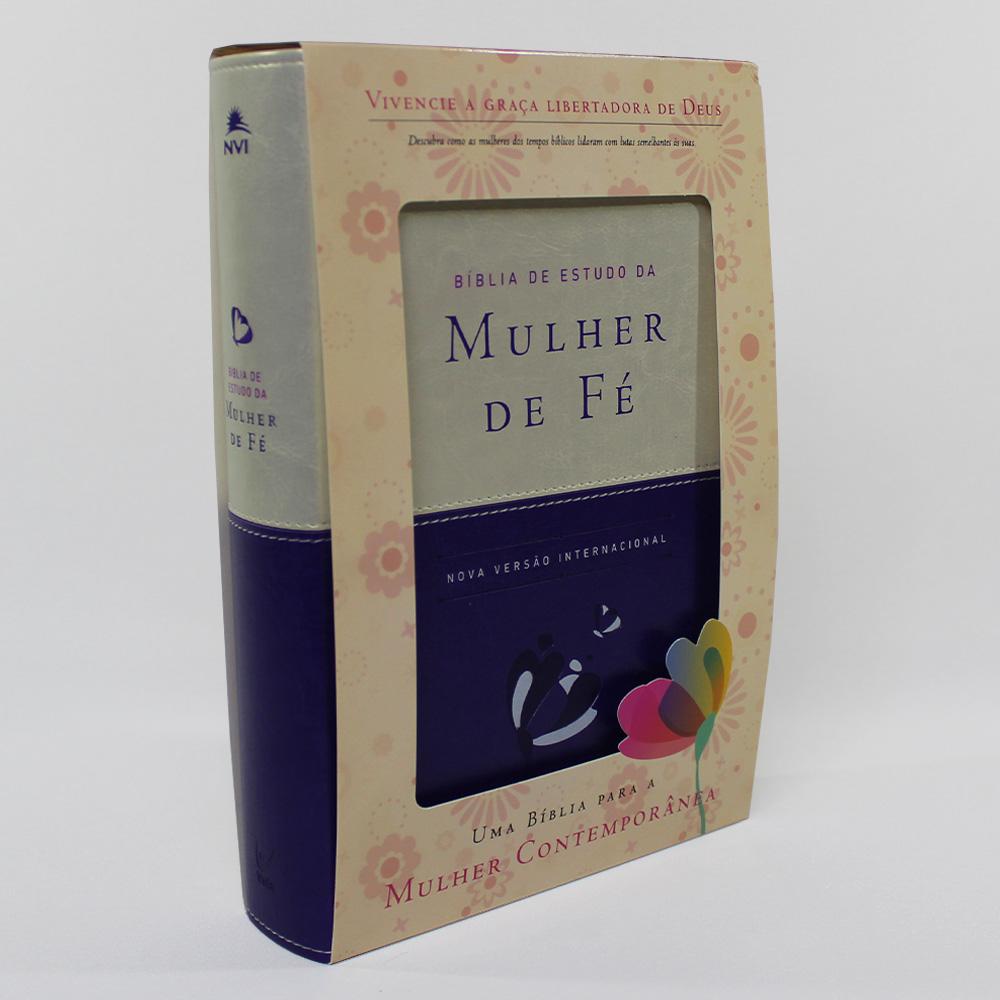 Bíblia de Estudo da Mulher de Fé | Luxo | NVI