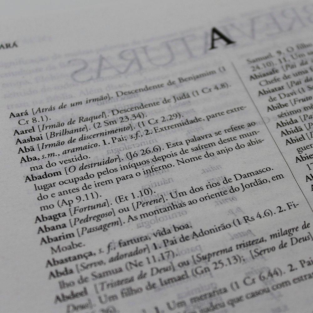 Bíblia de Estudo Explicada Grande com Dicionário - Preta