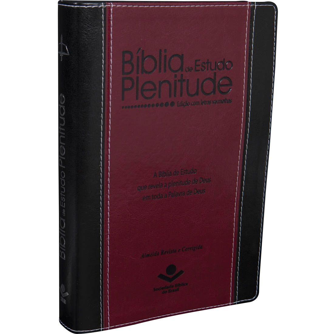 Bíblia de Estudo Plenitude com Índice | ARC - Preta e Vinho