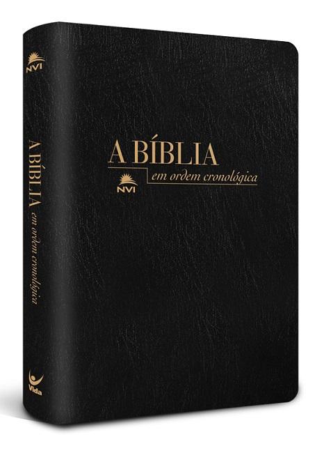Bíblia em Ordem Cronológica NVI  - Preto Sintético