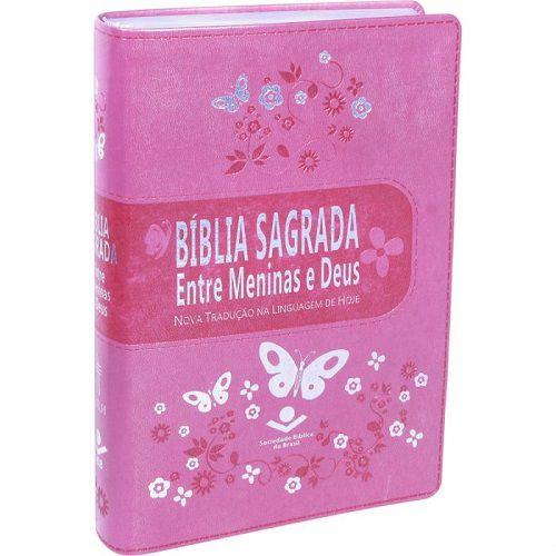 Bíblia Entre Meninas e Deus | NTLH - Rosa