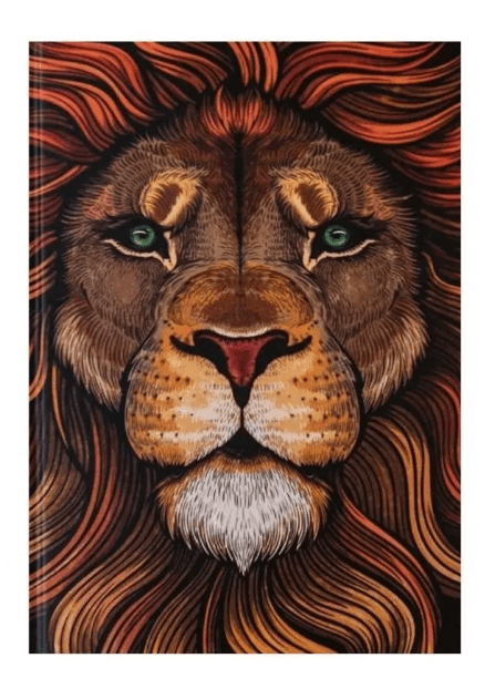 Bíblia Jesus Copy Leão Colorido | NAA | Capa Dura