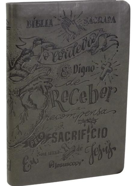 Bíblia Jesus Copy Lettering | Capa Luxo Flexível