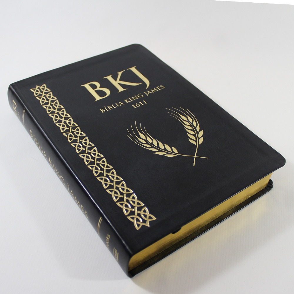 Bíblia King James 1611 - Letra Ultra Gigante Luxo Preta