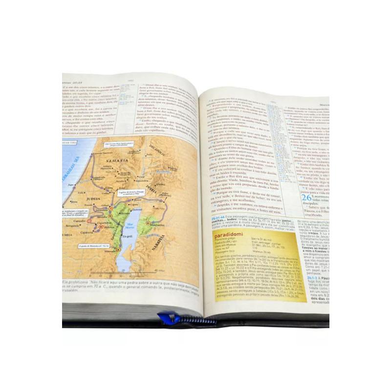 Bíblia King James de Estudo Holman   Fiel 1611 BKJ